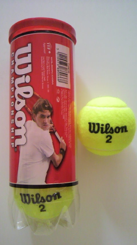 硬式のテニスボール